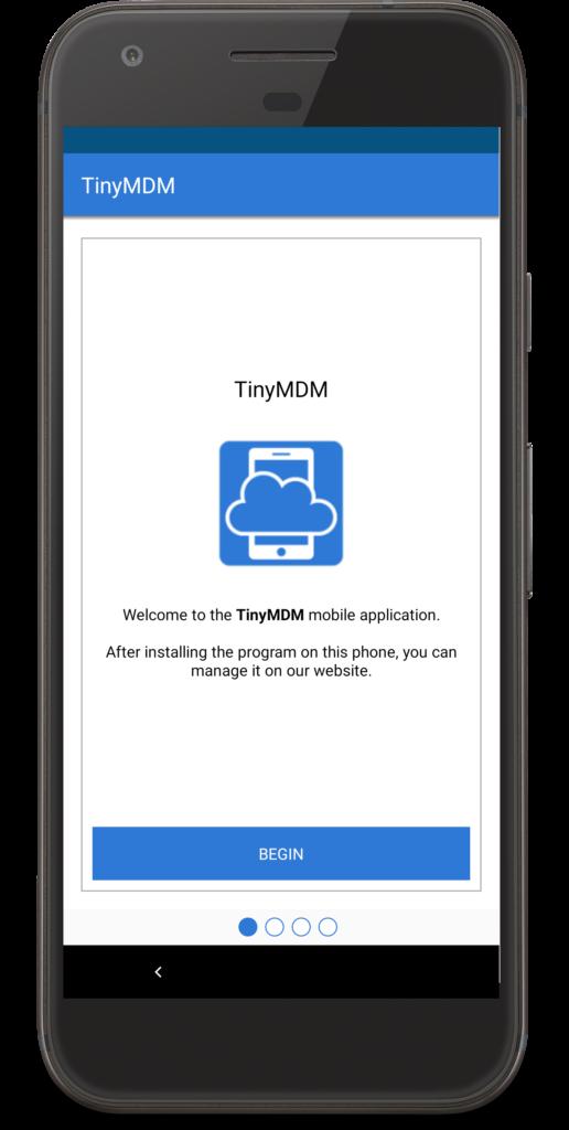 TinyMDM begin