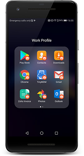 Profil de travail