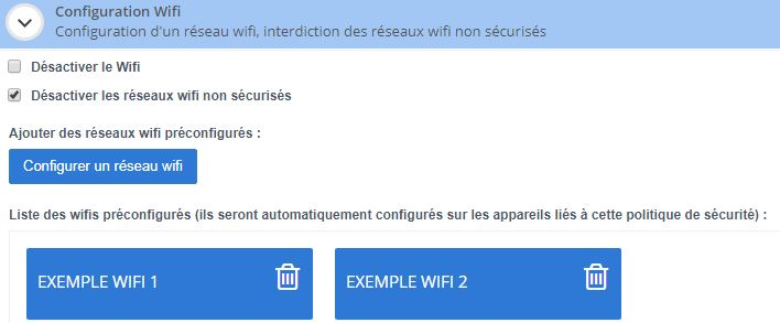 gestion wifi