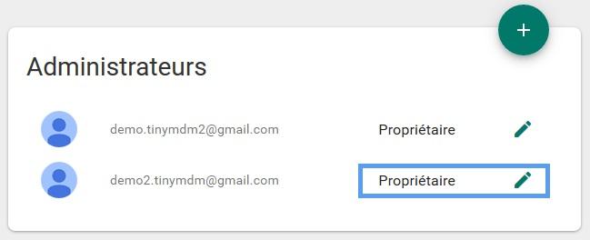 edit Android enterprise account